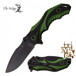 Elk Ridge 5 Inch Folding Pocket Knife Woodline Camo Handle ER-164CA