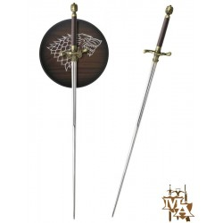 Game of Thrones Single Straight 'Arya' 'Needle' TV Version Style Sword with Display Wall Plaque