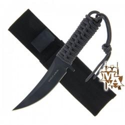 "7"" Grey Laced Knife With Sheath"