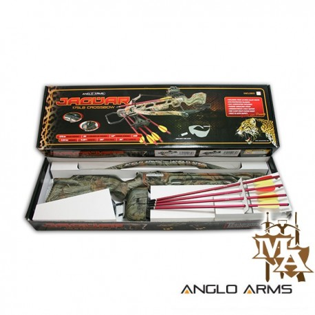 175lb Camo Crossbow With Red Dot Sight