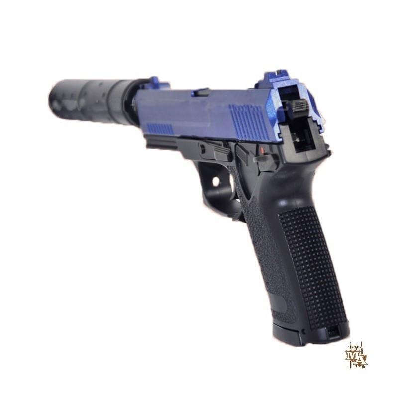 HFC HG-302 SOCOM MK23 Airsoft Gas Pistol 'Hitman Agent 47 Style' - Master  of Arms LTD