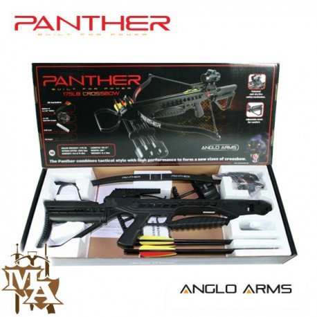 175lb Panther Rifle Deluxe Crossbow - Black + 5 extra bolts!