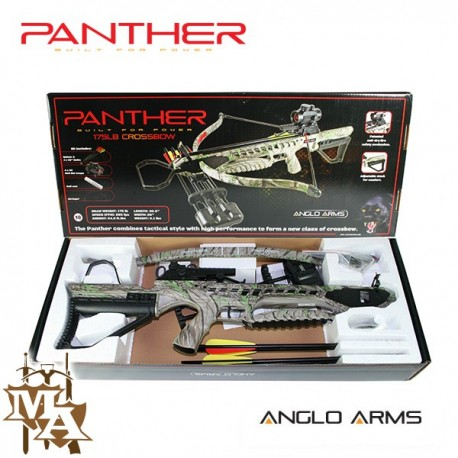 175lb Panther Rifle Deluxe Crossbow - Camo + 5 extra bolts!