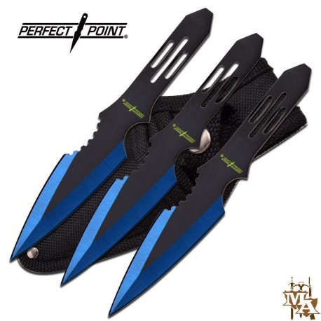 "Perfect Point 5.5"" 3pc Throwing Knife Set"