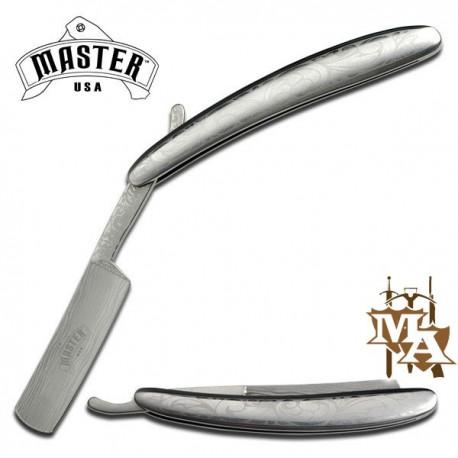 5.5'' Straight Folding Shaver Razor Textured Bolster Handle