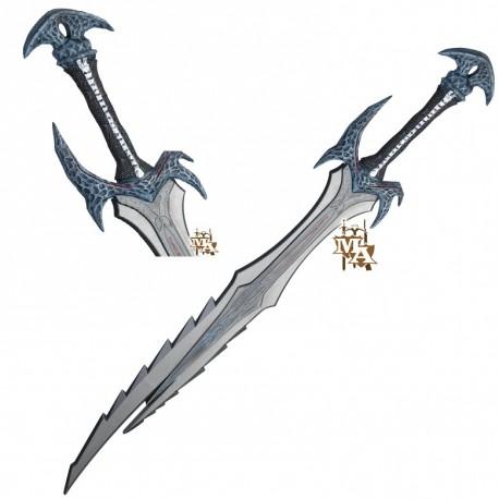 Elder Scrolls Skyrim Single Straight Daedric Style Foam LARP Sword Dovahkiin