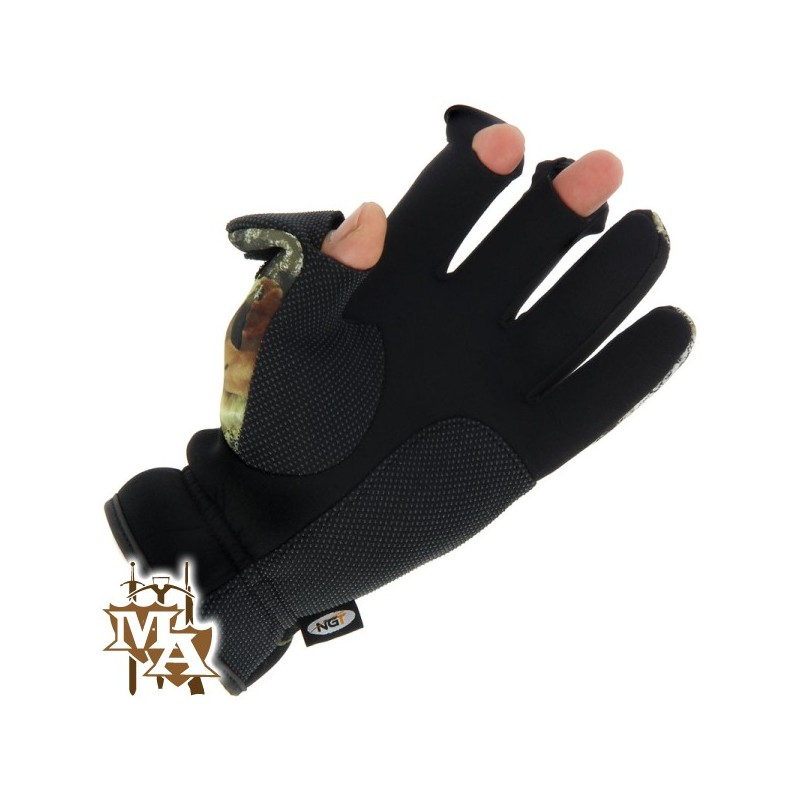 Camo neoprene fishing shooting gloves master of arms ltd for Neoprene fishing gloves