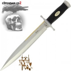 """Expendables 2 17.5""""  Toothpick Style Knife with Leather Sheath"""