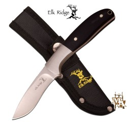 Elk Ridge Fixed Blade Knife Black Pakkawood ER-567CP