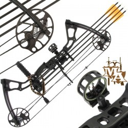 15-70lb Black 'Chikara' Compound Bow Set