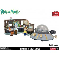 Rick and Morty Spaceship and Garage Large Construction Set