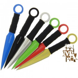 12pc Multi-coloured Throwing Knife set and Case (900)