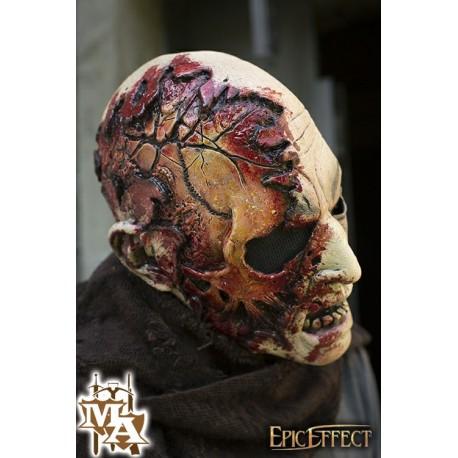 Half Face Zombie Mask - LARP, Fancy Dress, Costume, Halloween