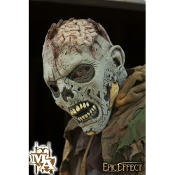 Open Brain Zombie - Grey Full Face Mask - LARP, Costume, Fancy Dress, Halloween