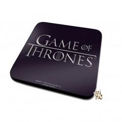 Game of Thrones Classic Logo Black Coaster (10cm X 10cm)