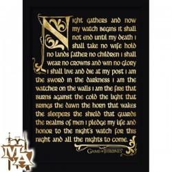 Game of Thrones Nightwatch Oath Framed 30 x 40cm Print