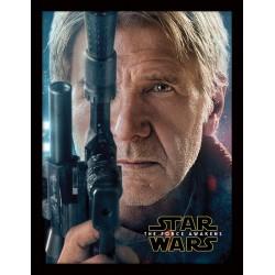 Star Wars Ep VII Hans Solo Teaser Framed 30 x 40cm Print