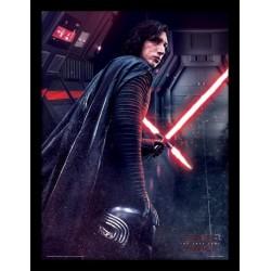 Star Wars The Last Jedi Kylo Ren Rage Framed 30 x 40cm Print
