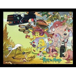 Rick and Morty Creature Barrage Framed 30 x 40cm Print
