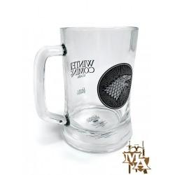 Game of Thrones House Stark Glass Stein Mug