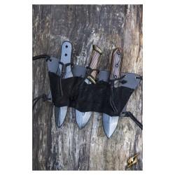 Throwing Knives Holder 3pc (Black) - LARP -  IF-101512