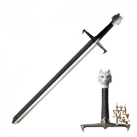 Game of Thrones Single Straight 'Jon Snow' Direwolf 'Longclaw' 'House Stark' Style Foam LARP Sword