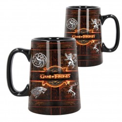 Ceramic Rustic Sigil Tankard (Game of Thrones) 13.5cm B4010K8