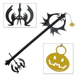 "Kingdom of Hearts - 37"" Pumpkin Head Halloween Stainless Steel Keyblade Sword"